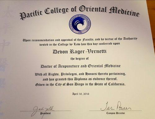 Introducing Dr. Devon Vernetti, DAOM . . . So what is a DAOM?